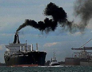 freight ships all over Earth are producing air pollution, life is changing